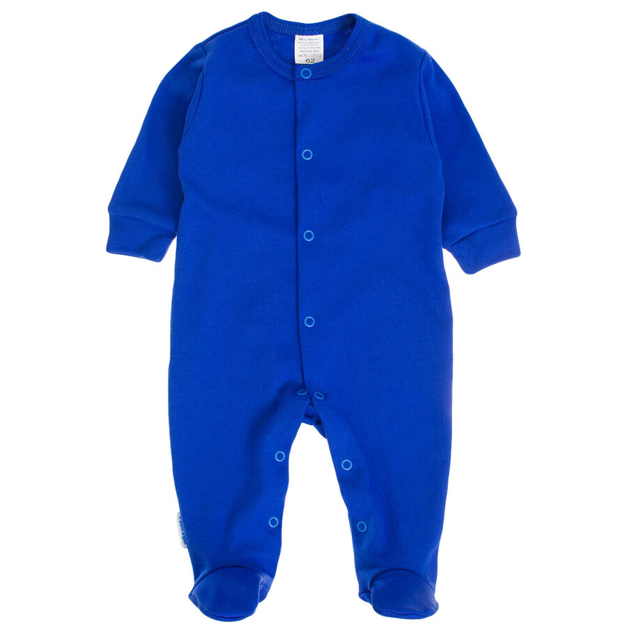 Solid color sleepsuit -  cornflower blue (Sizes: 56., 62., 68.)