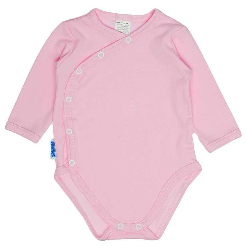 Solid color bodysuit - pink (Sizes: 62., 68.)