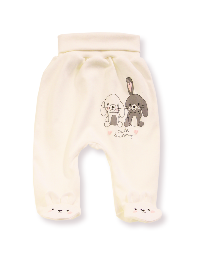 Pants with feet CUTE BUNNY s/c (Size: 74.)