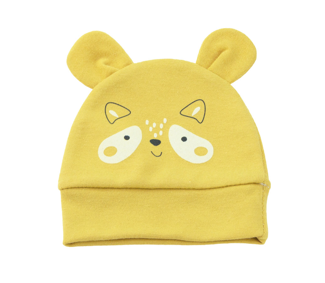 Hat FOREST FRIENDS - mustard yellow (Size: 74.)