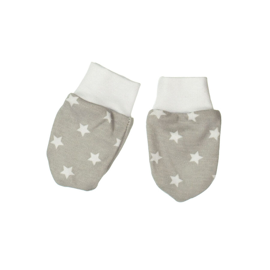 Mittens STARS - gray (One size)