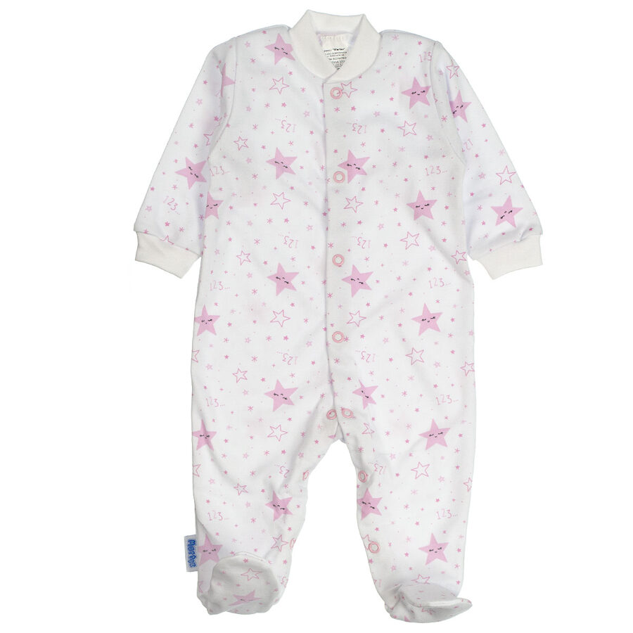 Sleepsuit STARS - pink (Sizes: 56., 62., 68.)