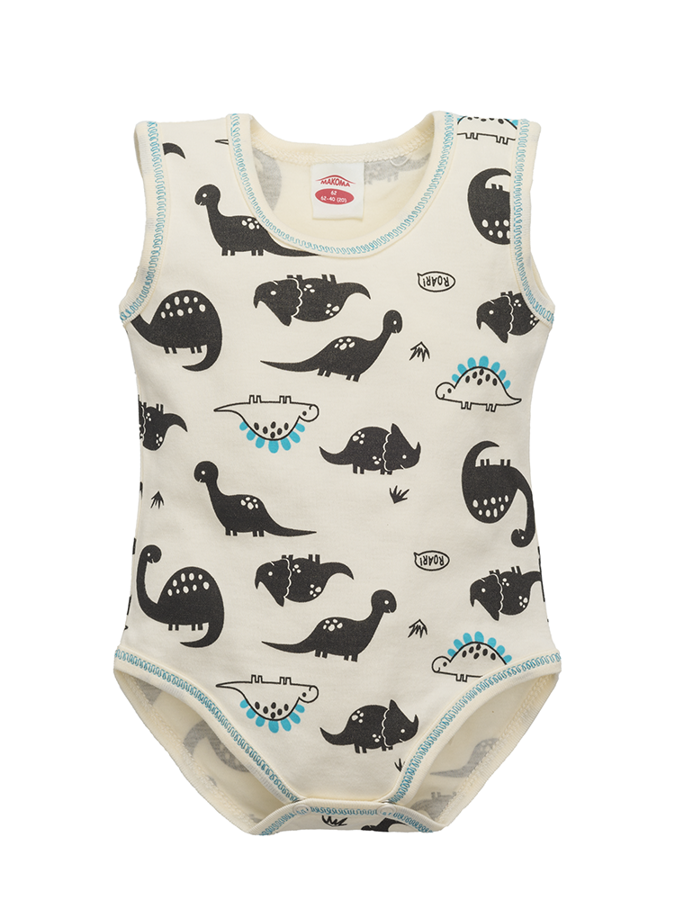 Sleeveless bodysuit DINOSAUR (Sizes: 74., 80.)