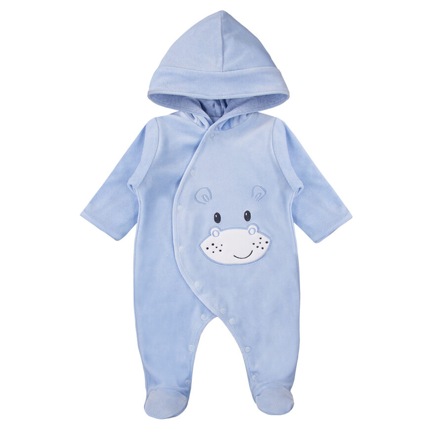 Hooded all-in-one BABY LOVE  - light blue (Sizes: 56., 62., 68.)
