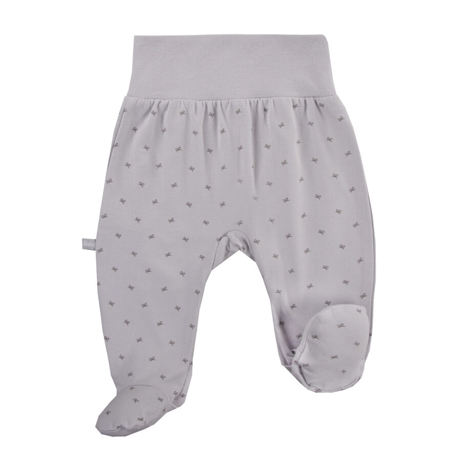 Pants with feet BOW - gray (Sizes: 56., 68.)