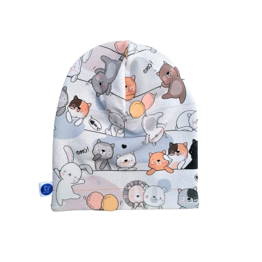 Hat FUNNY CATS - multicolored/blue (Size: 40/41 cm)