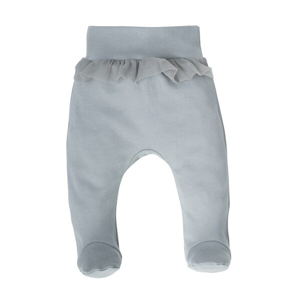 Pants with feet FEATHERS - gray (Sizes: 56., 62., 68., 74.)
