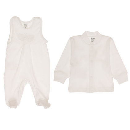 Romper and jacket BEARS - snow white (Sizes: 56., 62.)