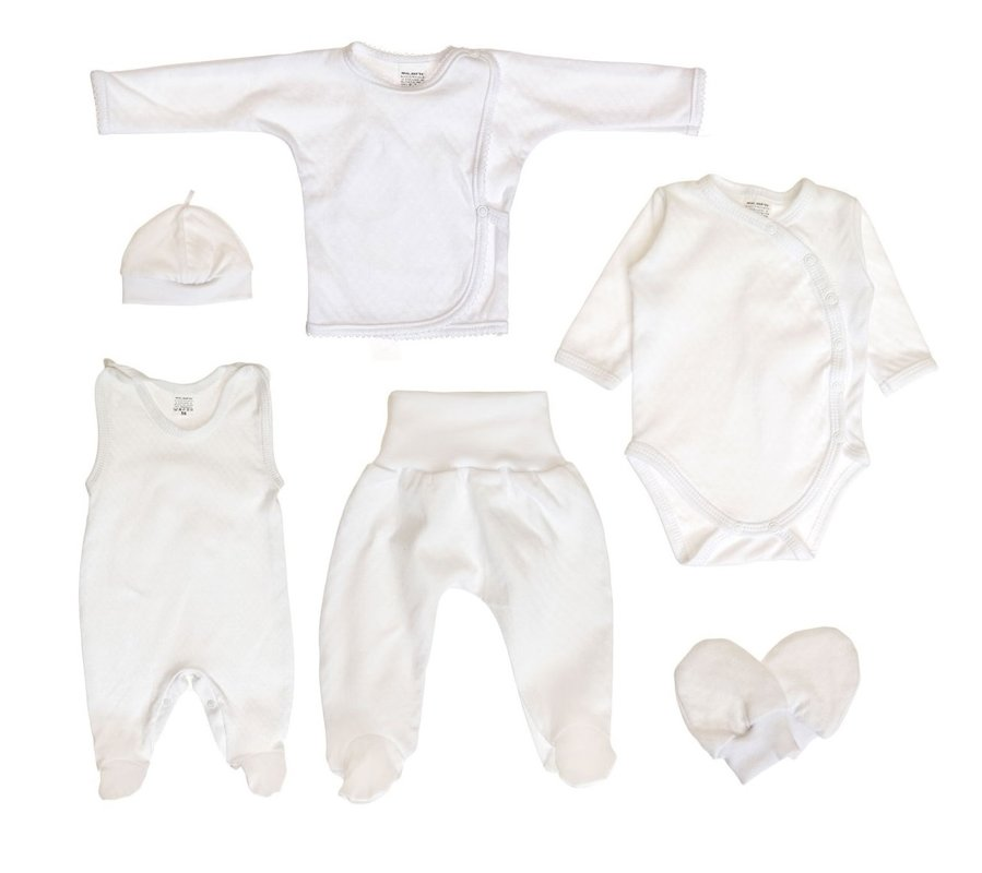 6-piece set - WHITE (Sizes: 56., 62.)