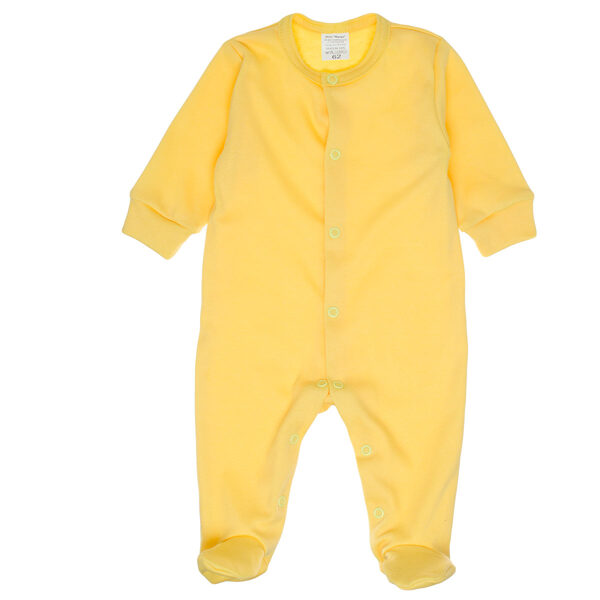 Solid color sleepsuit - yellow (Sizes: 56., 62., 68.)