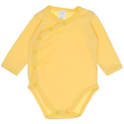 Solid color bodysuit - yellow (Sizes: 62., 68.)