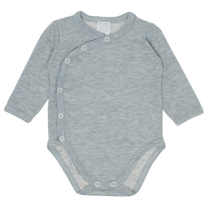 Solid color bodysuit - gray (Size: 68.)