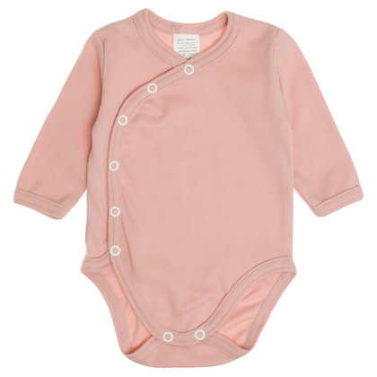 Solid color bodysuit - powder pink (Sizes: 62., 68.)