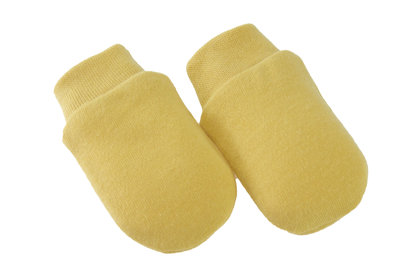 Mittens FOREST FRIENDS - mustard yellow (One size)