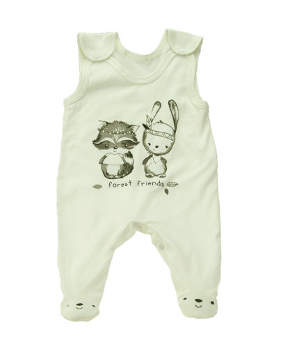 Romper FOREST FRIENDS - cream (Size: 74.)