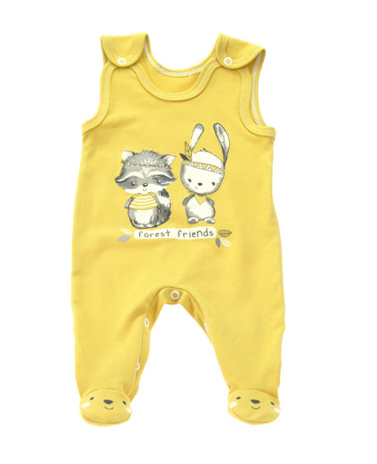 Romper FOREST FRIENDS - mustard yellow (Size: 74.)
