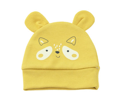 Hat FOREST FRIENDS - mustard yellow (Sizes: 68., 74.)