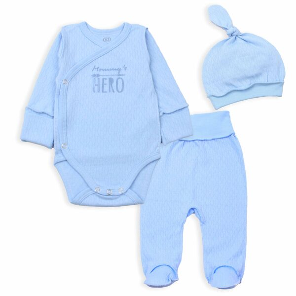 3 peace set MOMMY`s HERO (Size: 62.)