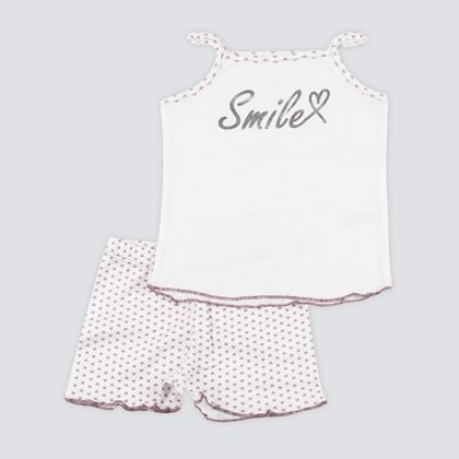 Nightwear set SMILE - hearts (Sizes: 104., 110.)