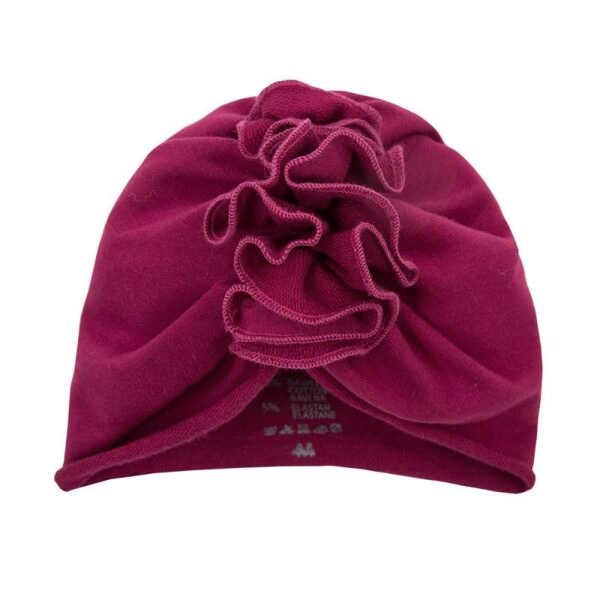 Turban style hat COMFY - burgundy (Size: M)