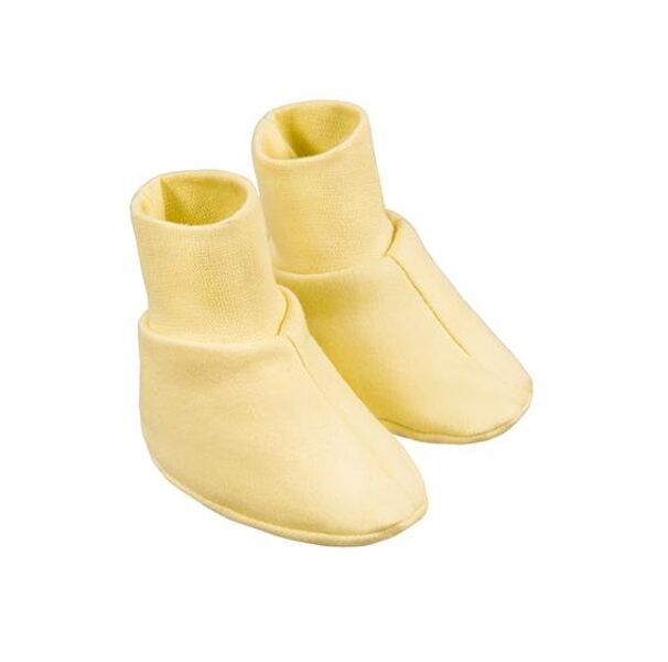 Baby booties - yellow (One size)