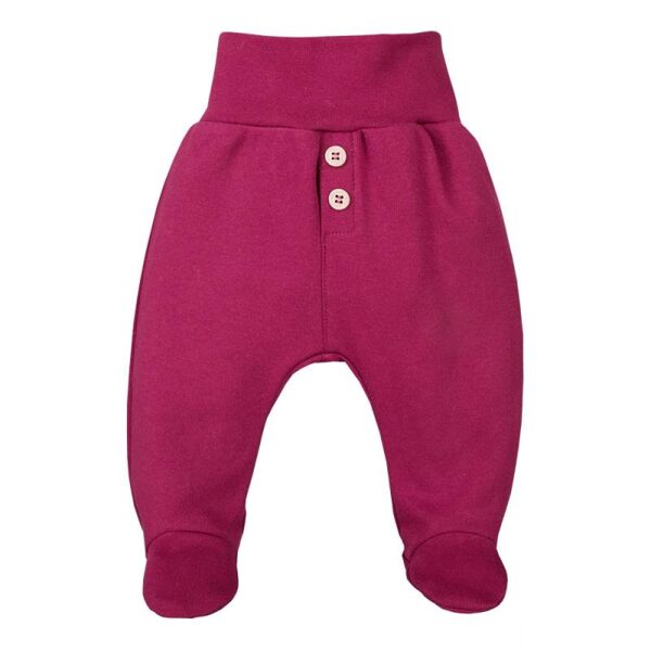 Pants with feet COMFY - burgundy (Sizes: 56., 68.)