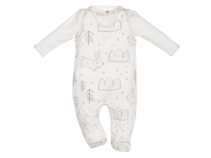 Organic cotton romper and jacket RABBIT (Sizes: 56., 62., 68.)