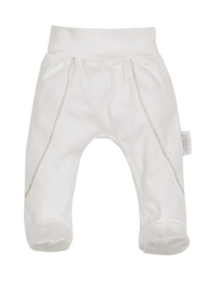Organic cotton pants with feet RABBIT (Sizes: 56., 62., 68.)