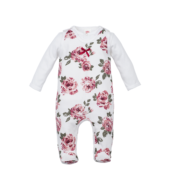 Romper and jacket ROSES (Size: 68.)