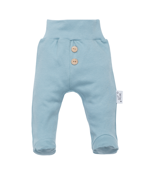 Pants with feet SWEET DREAMS - solid color (Sizes: 56., 62., 68.)