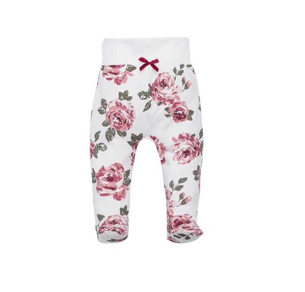 Pants with feet ROSES (Size: 62.)