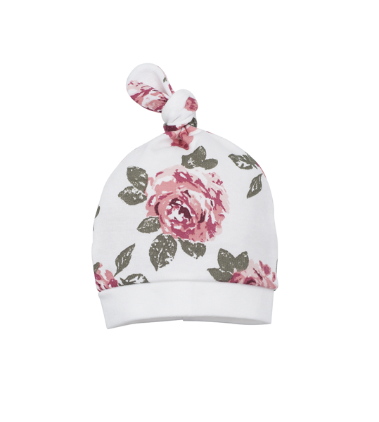 Hat with a knot ROSES (Size: 56.)