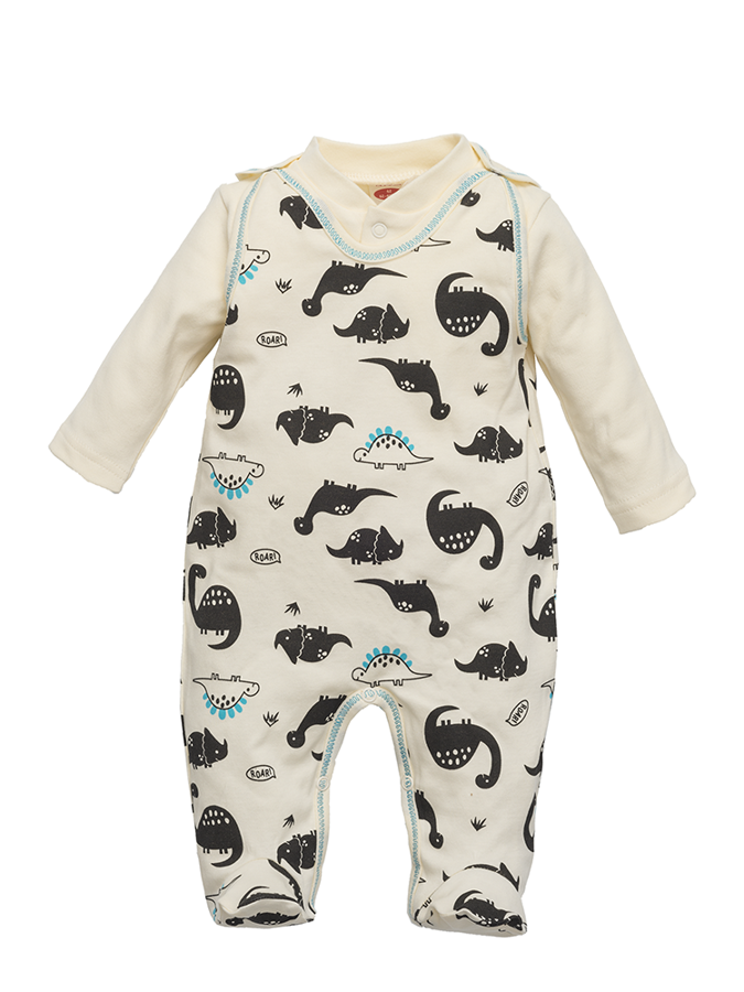 Romper and jacket DINOSAUR (Sizes: 56., 62., 68.)