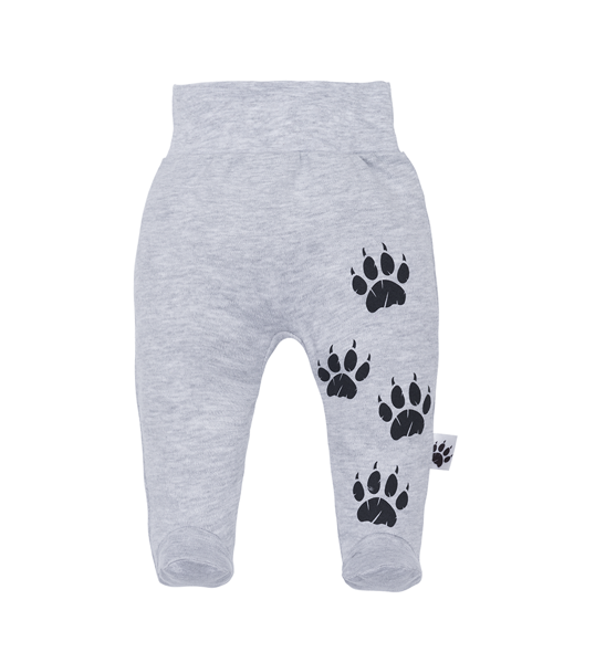 Pants with feet WILD WORLD - gray (Sizes: 56., 68.)