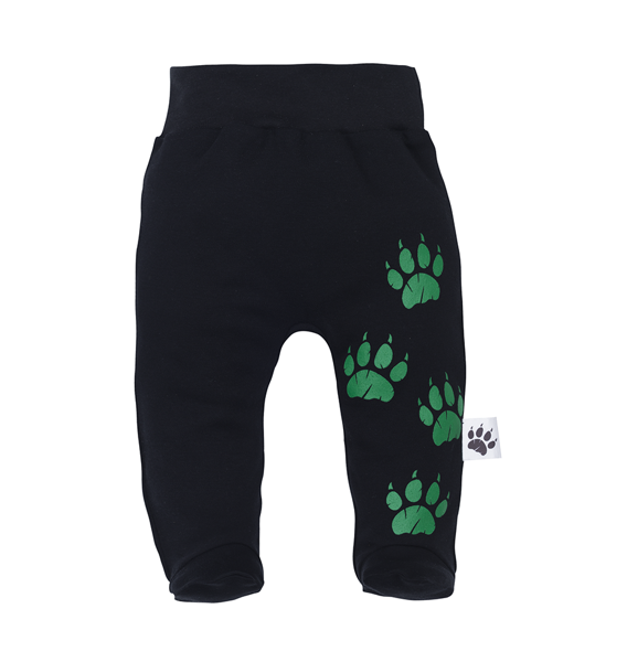 Pants with feet WILD WORLD - black (Size: 68.)