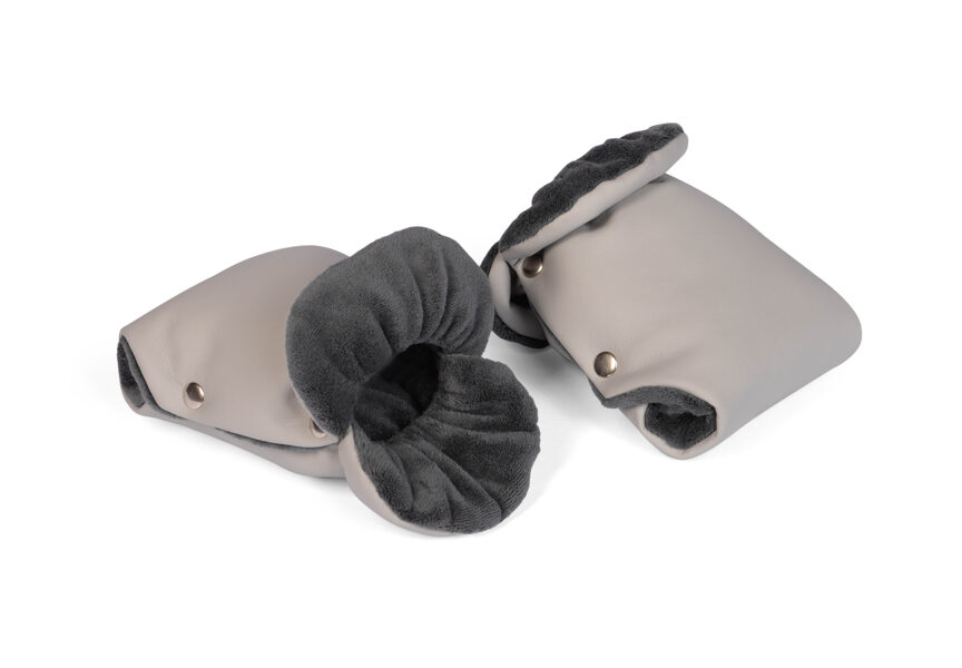 Stroller gloves for Mother - gray (ECO leather)