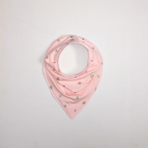 Scarf/bib HEARTS (One size)