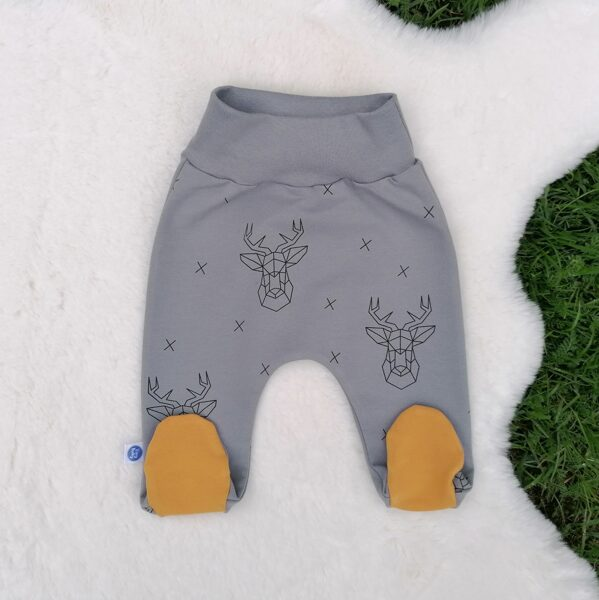 Pants with feet DEERS P - multicolored (Sizes: 56., 62.)