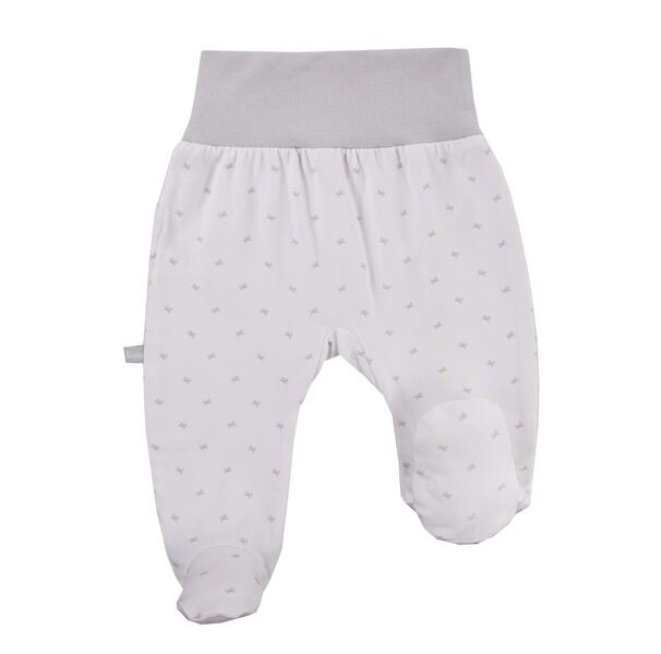 Pants with feet BOW - white (Size: 68.)