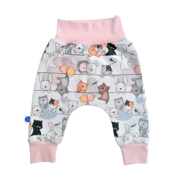 Joggers FUNNY CATS - multicolored/pink (Sizes: 56., 62.)