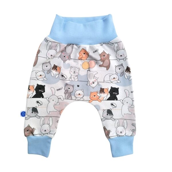 Joggers FUNY CATS - multicolored/blue (Sizes: 56., 62.)