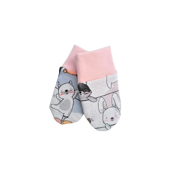 Mittens FUNNY CATS - pink (One size)