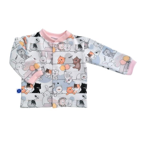 Jacket FUNNY CATS - pink (Sizes: 56., 62.)