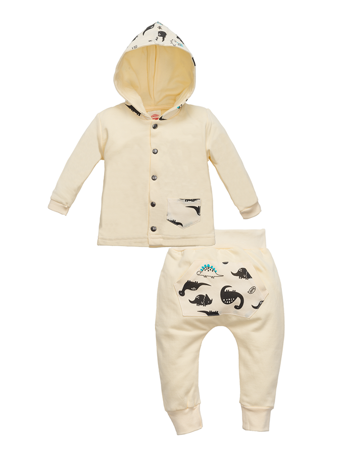 Hoodie jacket and pants DINOSAUR (Sizes: 68., 74., 80., 86.)